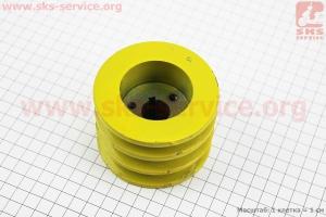 Шкив ведущий D=85мм под коленвал 20мм 3-х ручейковый (два паза под ремень SPB один под SPA) 168F/170F для мотоблока