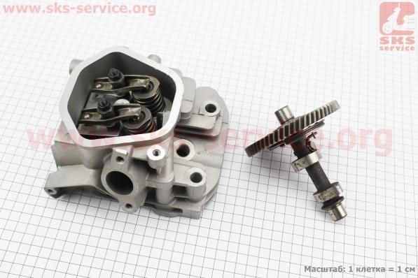 Головка двигателя в сборе 173F/177F + распредвал, УЦЕНКА (небольшие царапины, смотрите на фото) для мотоблока