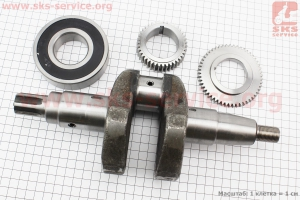 Коленвал 186F под шлиц +шестерни+подшипник для дизельного двигателя  F178/ F186 - 6/9 л.с.