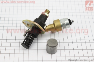 Насос топливный 186F с электромагнитным клапаном для дизельного двигателя  F178/ F186 - 6/9 л.с.