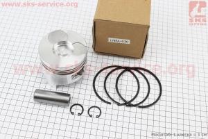 Поршень, кольца, палец к-кт 178F 78мм +0,50 (форкамера в форме Усечённого конуса) для дизельного двигателя  F178/ F186 - 6/9 л.с.