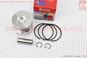 Поршень, кольца, палец к-кт 186F 86мм STD (форкамера в форме Конуса) для дизельного двигателя  F178/ F186 - 6/9 л.с.