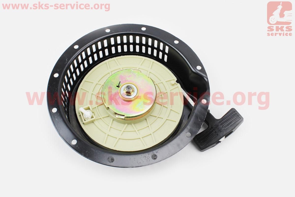 Стартер ручной в сборе 186FS (вращение против часовой стрелки - Weima, Kipor) для дизельного двигателя  F178/ F186 - 6/9 л.с.