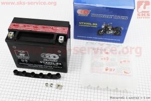 Аккумулятор 20Аh UTX20L-BS кислотный (L175*W85*H155 mm), 2019 для мотоблока с двигателем 178F-186F