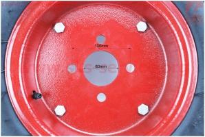 Колесо на мотоблок в сборе 5,00-10 для мотоблока с двигателем 178F-186F