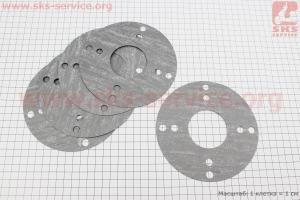 Прокладка плиты переходной-круглая, к-кт 5шт, на блистере для мотоблока с двигателем 178F-186F