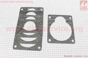 Прокладка плиты переходной-квадратная, к-кт 5шт, на блистере для мотоблока с двигателем 178F-186F