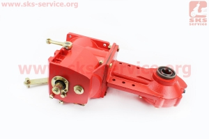 Редуктор полуоси+коробка КПП в сборе (2-вперед, 1-назад) для мотоблока с двигателем 178F-186F