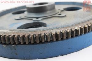 Маховик+венец Z=134, 12,9кг R175A/R180N УЦЕНКА (неровно напресован венец) для мотоблока