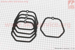 Прокладка крышки головки цилиндра R175A/R180NM к-кт 5шт, на блистере для мотоблока