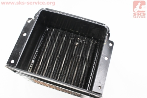 Радиатор R190N (латунь) Тип №2 УЦЕНКА (отломан патрубок перелива, см. фото) на двигатель дизельный R190N(NM)/R195N(NM)