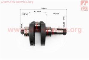 Коленвал ZS1100 в сборе на двигатель  дизельный ZS1100 - 15л/с