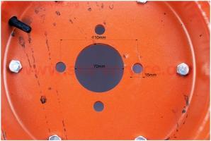 Колесо на мотоблок в сборе 5,00-12 Тип №3 на мотоблок с двигателем R175N(NM)/R195N(NM)