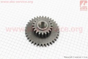 КПП - Шестерня 81-1 Z=19х35 на мотоблок с двигателем R175N(NM)/R195N(NM)