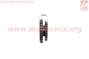КПП - Шестерня ведущая 2-й/3-й передачи 81-1 Z=28х34 на мотоблок с двигателем R175N(NM)/R195N(NM)