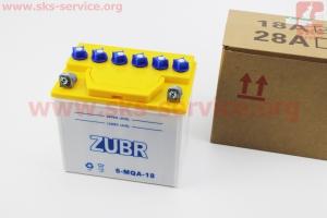 Аккумулятор 12V/18Аh 6-MQA-18 (кислотный, сухой) 175/125/185ммк мотоблокам