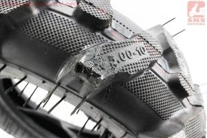 """Шина на мотоблок 5,00-10 с камерой 6PR """"насечка"""" (NEW) УЦЕНКА, (незначительный дефект протектора) к мотоблокам"""