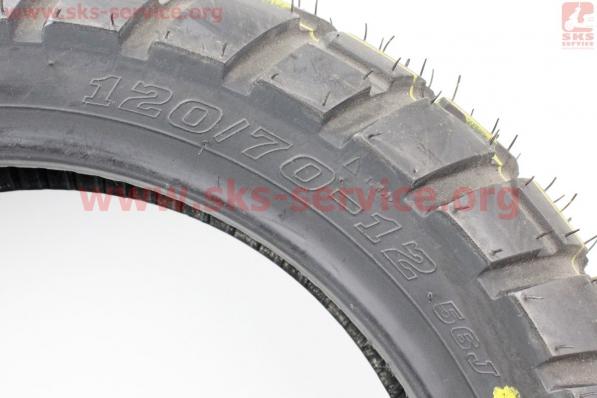 Шина 120/70-12 бескамерная, шипованная HFC-903