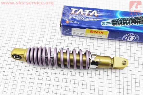 Амортизатор задний GY6/Yamaha - 260мм*d52мм (втулка 10мм / вилка 8мм) регулир., серый , УЦЕНКА (устанавливался, см.фото ) для японских скутеров