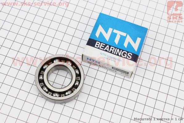 Подшипник коленвала AD SC05A51CS24 (52*25*13) NTN для японских скутеров