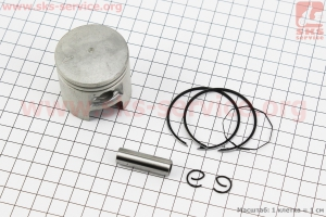 Поршень, кольца, палец к-кт Suzuki AD65/LETS 44мм +0,50 (палец 10мм) для японских скутеров