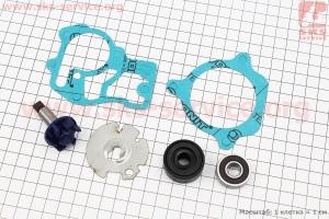 Ремонтный к-кт помпы водяной + крыльчатка + пластина Yamaha GEAR 4T, SA26J, SA36J, 6 деталей (безасбест) для японских скутеров
