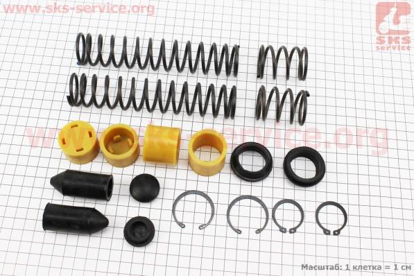 Ремонтный комплект передней вилки Honda DIO - полный к-кт для японских скутеров