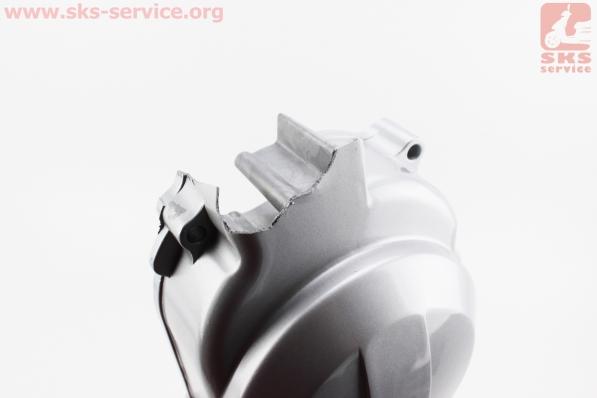 Крышка вариатора короткая 40см - 10 серебристая (без втулки бендикса), УЦЕНКА (см.фото) для китайских скутеров на двигатель 50-100сс 4-Т