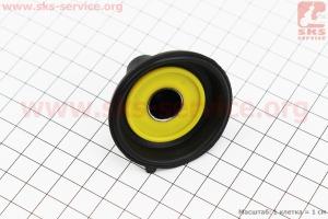 Мембрана круглая 16мм (метал, внизу с выемкой) для китайских скутеров на двигатель 50-100сс 4-Т