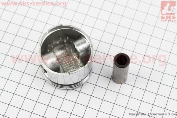 Поршень, кольца, палец к-кт 60cc 44мм +0,25 красная коробка (палец 13мм) для китайских скутеров на двигатель 50-100сс 4-Т