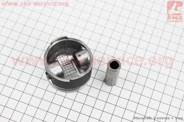 Поршень, кольца, палец к-кт 80cc 47мм +0,25 (тефлоновое покрытие) (палец 13мм) для китайских скутеров на двигатель 50-100сс 4-Т