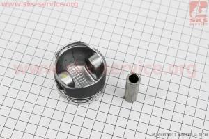 Поршень, кольца, палец к-кт 100cc 50мм STD (тефлоновое покрытие) (палец 13мм) для китайских скутеров на двигатель 50-100сс 4-Т