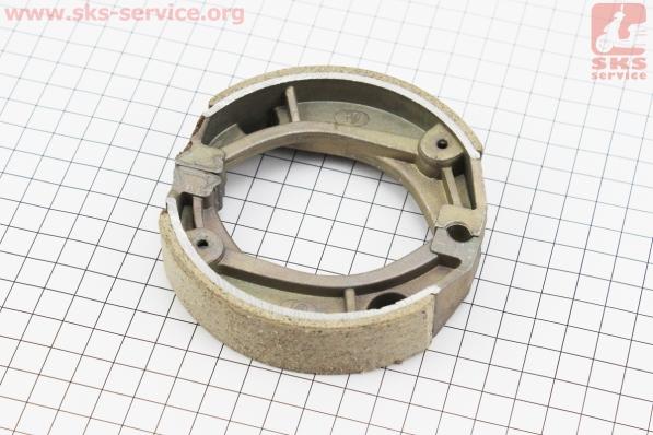 Тормозные колодки задние к-т (барабан) 10, 12, УЦЕНКА (без пружын) для китайских скутеров на двигатель 50-100сс 4-Т