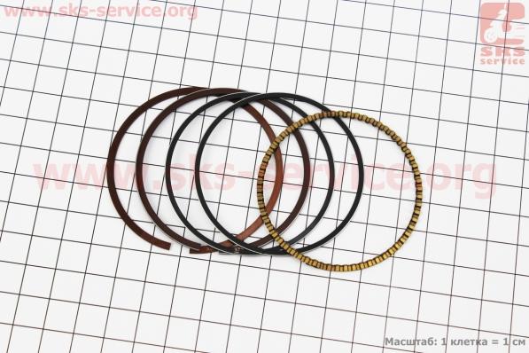 Кольца поршневые 150сс 57,4мм STD, Тайвань для китайских скутеров на двигатель 125,150сс 4-Т