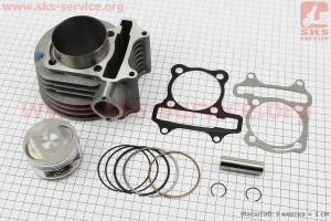 Цилиндр к-кт (цпг) 170cc-61мм (палец 15мм) для китайских скутеров на двигатель 125,150сс 4-Т