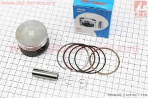 Поршень, палец, кольца к-кт 110сс 52,4мм +0,25 (тефлоновое покрытие) Japan technology (палец 13мм) для мопедов Delta (Viper)