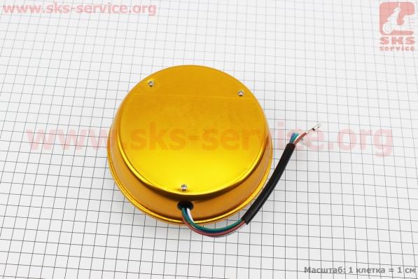 Фары круглой передняя часть 8+1-LED линза с ободком, d-140mm, TUNING для мопедов Delta (Viper)