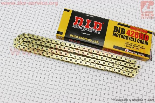 Цепь привода колеса 428Н*104L GOLD для мопедов Delta (Viper)