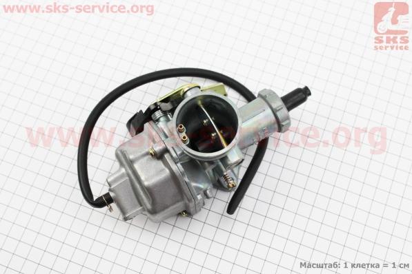 Карбюратор СВ/CG-200 (d=30), дросель под трос для мотоцикла VIPER-125-J (двигатель СВ-125сс-200сс)