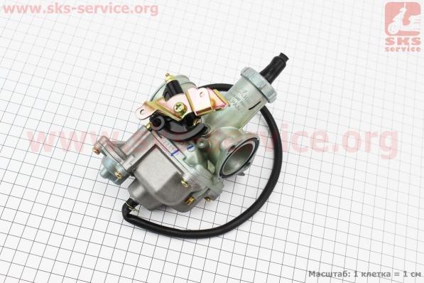 Карбюратор СВ/CG-200 (d=30), дросель под трос, с ускорительным насосом для мотоцикла VIPER-125-J (двигатель СВ-125сс-200сс)