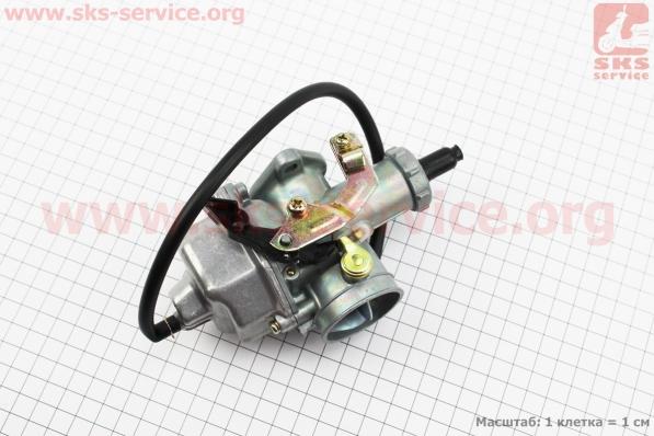 Карбюратор СВ/CG-200 (d=30), дросель под трос для мотоциклов разных моделей (Китай, импорт)