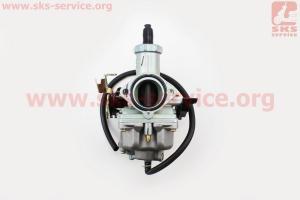 Карбюратор СВ/CG-200 (d=30), дросель под трос, с ускорительным насосом для мотоциклов разных моделей (Китай, импорт)
