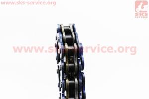 Цепь привода колеса 520НV*104L BLUE (с сальниками) для мотоциклов разных моделей (Китай, импорт)