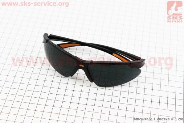 Очки защитные F-3054B, материал линзы - поликарбонат PC, затемненные
