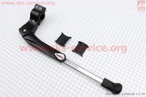 Подножка боковая задняя телескопическая для 24- 28, крепление за перо рамы, алюминиевая SW-RA016J для велосипеда