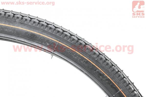 Шина 28х1,75 (40-622) дорожная SV203 для велосипеда