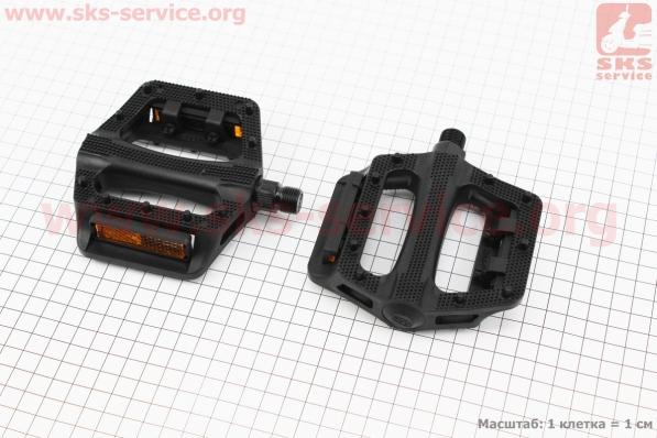 Педали MTB широкие 9/16 пластиковые к-кт, черные NW-284 для велосипеда