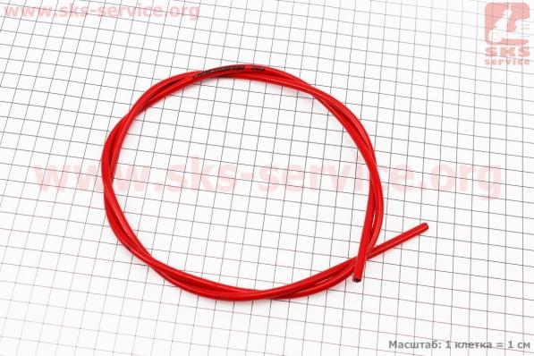 Рубашка троса тормозного 5мм х 1м, красная CGX для велосипеда