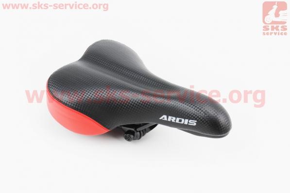 Сиденье на MTB, черно-красное ARDIS GS-589 для велосипеда