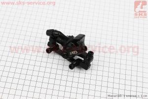 Тормозной суппорт передний (адаптер F160/R140мм), черный MDA11 для велосипеда